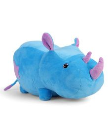 Benny & Bunny Rhino Soft Toy Blue - Length 14.96 inches