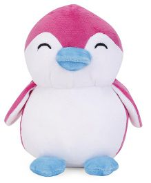 Benny & Bunny Penguin Soft Toy White Pink - 19 cm