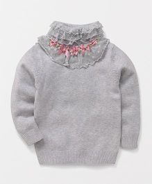 Superfie Net Design Sweaters - Grey