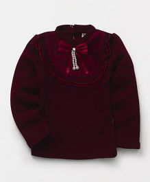 Superfie Winter Designer Top - Maroon