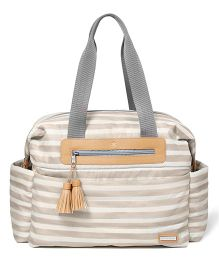 Skip Hop Ultra Light Diaper Satchel Oyster Stripes Bag - Grey