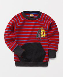 Little Kangaroos Round Neck Pullovers Style Sweater - Red