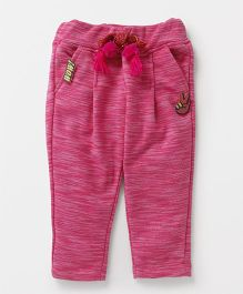 Little Kangaroos Full Length Lounge Pant With Drawstring - Pink