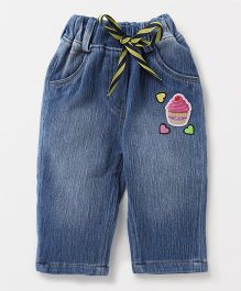 Little Kangaroos Jeggings Ice-cream Patch - Blue