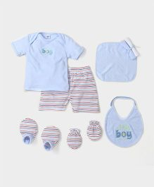 Mee Mee Infant Clothing Gift Set Pack of 8 - Light Blue Multi Colour