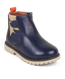 Kittens High Ankle Zippered Closure Boots - Navy