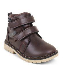 Kittens Shoes Dual Velcro Closure Boots - Brown