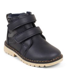 Kittens Shoes Dual Velcro Closure Boots - Navy
