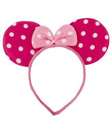NeedyBee Minnie Mouse Big Ear Hair Band - Pink