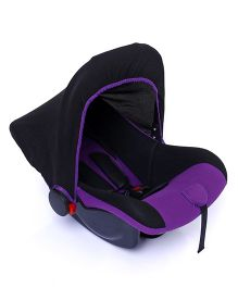 Rear Facing Car Seat Cum Carry Cot - Purple And Black