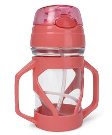 Sipper Bottle With Straw - Pink