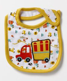 Mee Mee Velcro Closure Weaning Bib Truck Embroidery - Yellow