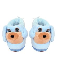 Miss Diva Cute Puppy Shoes - Light Blue