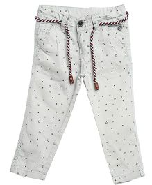Bella Moda Triangle Printed Denim - Light Grey