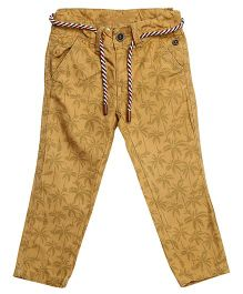 Bella Moda Coconut Printed Denim - Yellow