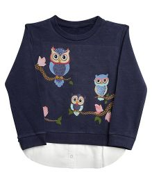 Bella Moda Owl Printed Set - Blue