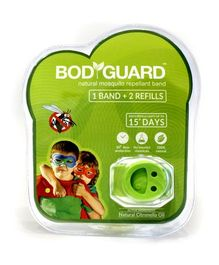 Bodyguard Anti Mosquito Band 1 Band Plus 2 Refills (Color May Vary)