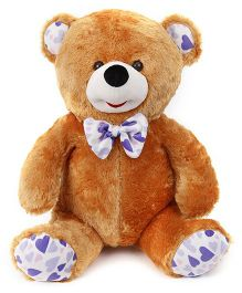 Play Toons Teddy Bear With Heart Printed Bow Soft Toy Brown - Height 66 cm