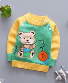Pre Order - Tickles 4 U Mix Color Sweater - Green