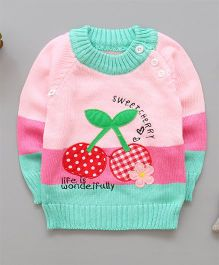 Pre Order - Tickles 4 U Cherry Sweater - Green