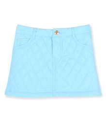 Cherry Crumble California Soft Quilted Skirt - Light Blue