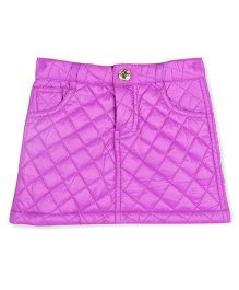 Cherry Crumble California Soft Quilted Skirt - Purple