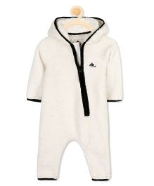 Cherry Crumble California Little Ray Fur Romper - White