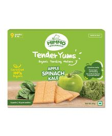 Mimmo Organics Tender Yums Teething Wafers - Apple Spinach Kale