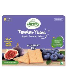 Mimmo Organics Tender Yums Teething Wafers - Blueberry & Fig