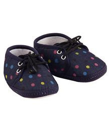 Daizy Denim Polka Dot Shoes - Blue