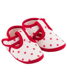 Daizy Polka Dot Shoes - Red & White