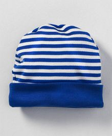 Babyhug Round Cap Striped Pattern - Blue