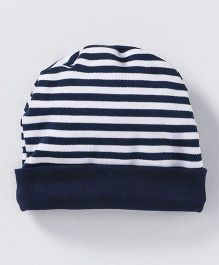 Babyhug Round Cap Striped Pattern - Navy