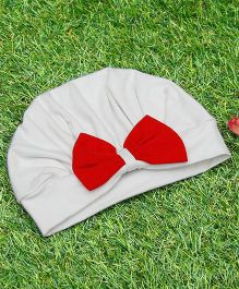 D'chica Aodrable Turban Cap - White & Red