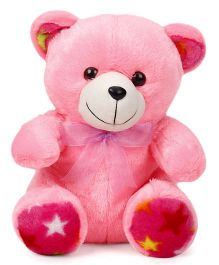 Liviya Teddy Bear Soft Toy With Bow Dark Pink - Height 27 cm