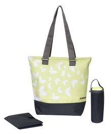 Vouch Butterflies Tote Baby Diaper Bag - Green