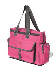 Vouch Bria Travel Duffle Multipocket Baby Diaper Bag - Pink
