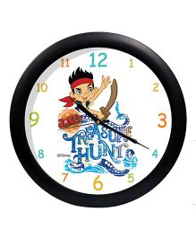 Orka Printed Jake's Treasure Hunt Analog Wall Clock - White  Multi Colour
