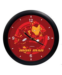 Orka Printed Iron Man Analog Wall Clock - Maroon Black