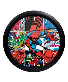 Orka Printed Marvel Spiderman Analog Wall Clock - Red Black