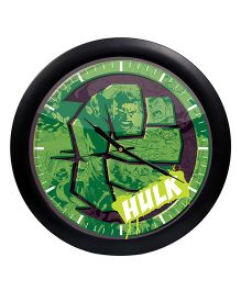 Orka Hulk Printed Analog Wall Clock - Green Black