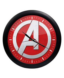 Orka Avenegrs Printed Analog Wall Clock - Red Black