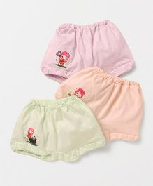 Simply Bloomers Printed Pack of 3 - Green Peach Pink
