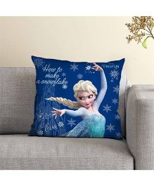 Disney Princess Elsa Printed Cushion - Dark Blue