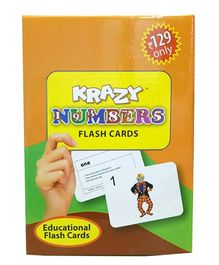 Krazy Numbers Mini Krazy Flash Cards - 32 cards