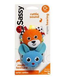 Sassy - Wrist Rattle Cat And Mouse