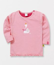 Tiny Bee Printed Full Sleeves Tee - Light Pink
