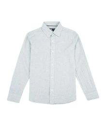 Flying Machine Full Sleeve Solid Shirt - Light Blue