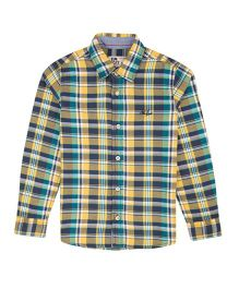 Flying Machine Full Sleeve Checks Shirt - Yellow