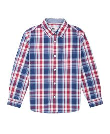 Flying Machine Full Sleeve Checks Shirt - Blue & Red